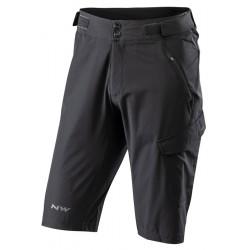 Nadrág NORTHWAVE EDGE baggy fekete, betétes alsónadrág nélkül